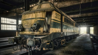 sncb 5123, cockerill, class 51, sncb, diesel, train, belgium