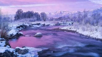 nature, photography, river, winter, mountains
