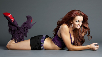 smile, lingerie, redhaired, maria kanellis, wwe diva, heels