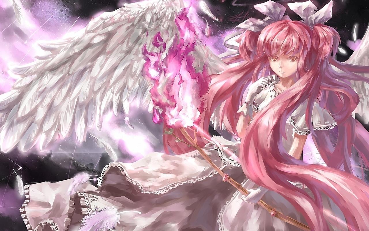 Крылья созвездия девушка арт обои
