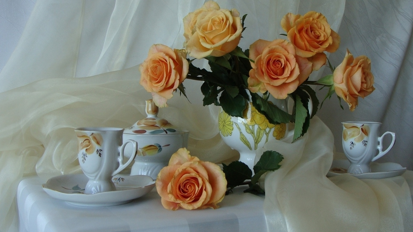 Розы красивые нежные натюрморт