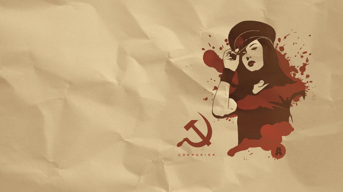 фуражка, молот, Девушка, серп, коммунизм