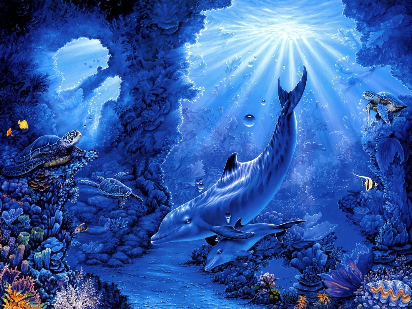 Кораллы арт черепахи рыбы belinda leigh