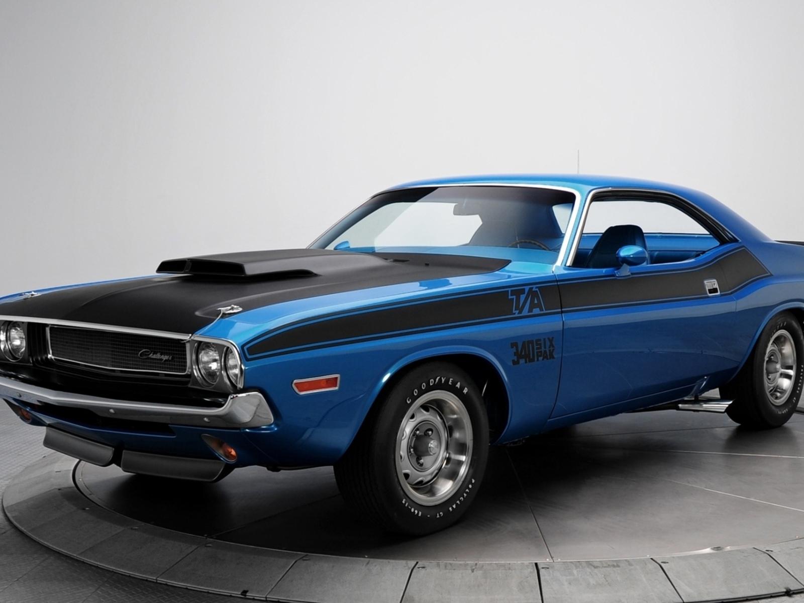 Картинка Додж, синий, фон, Челенжер, Dodge ...: look.com.ua/download/11592/1600x1200