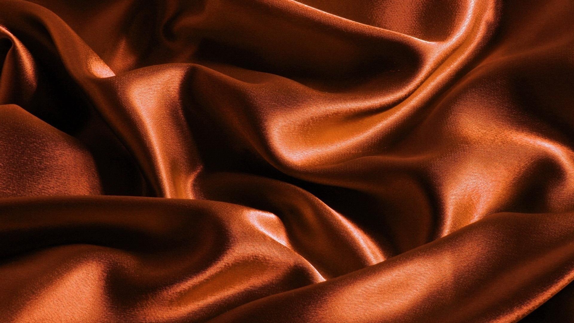 Оранжевый ткань атлас фон текстура