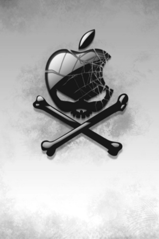веселый роджер, череп, пиратство, Apple