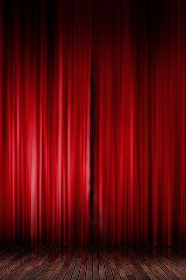 шторы, текстуры, Красный, сцена