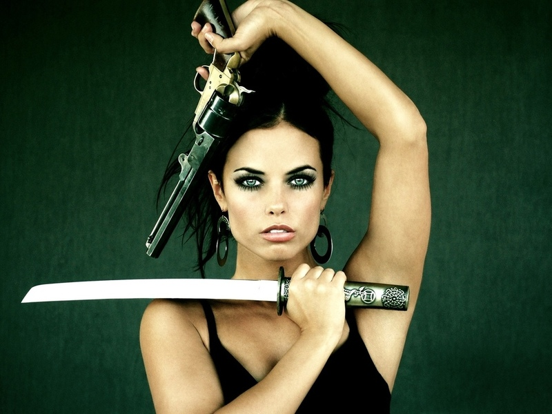 Hot girl, ������, �������, �����, ���������, gun sword