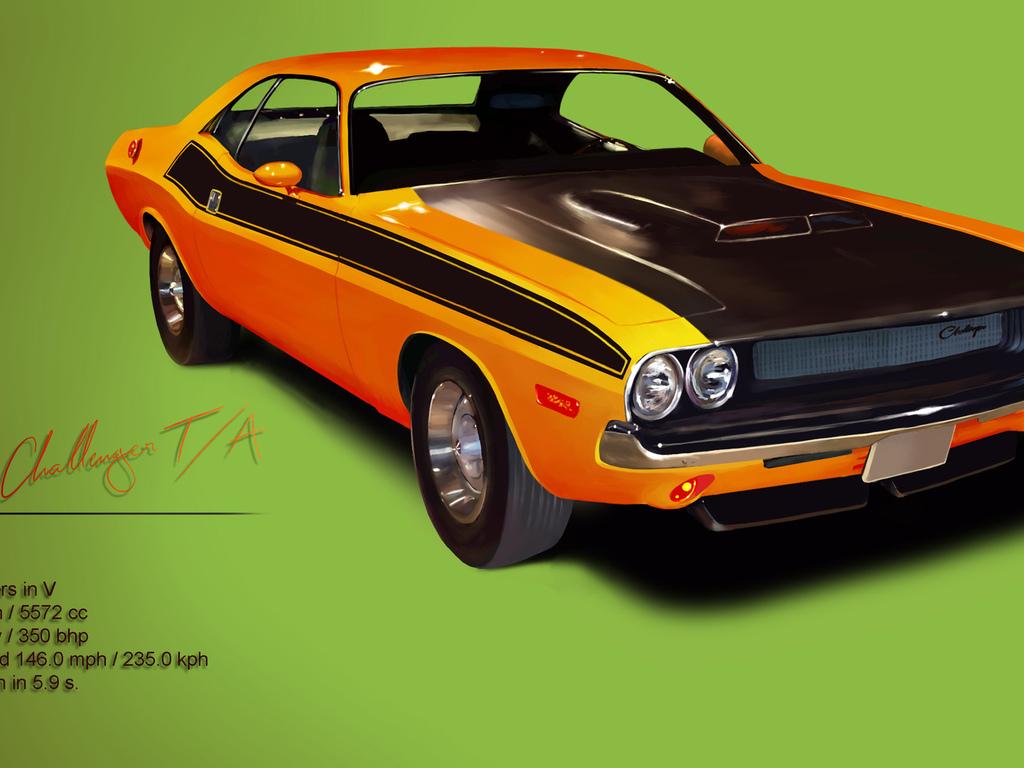 1970 классика challenger маслкар dodge мощь