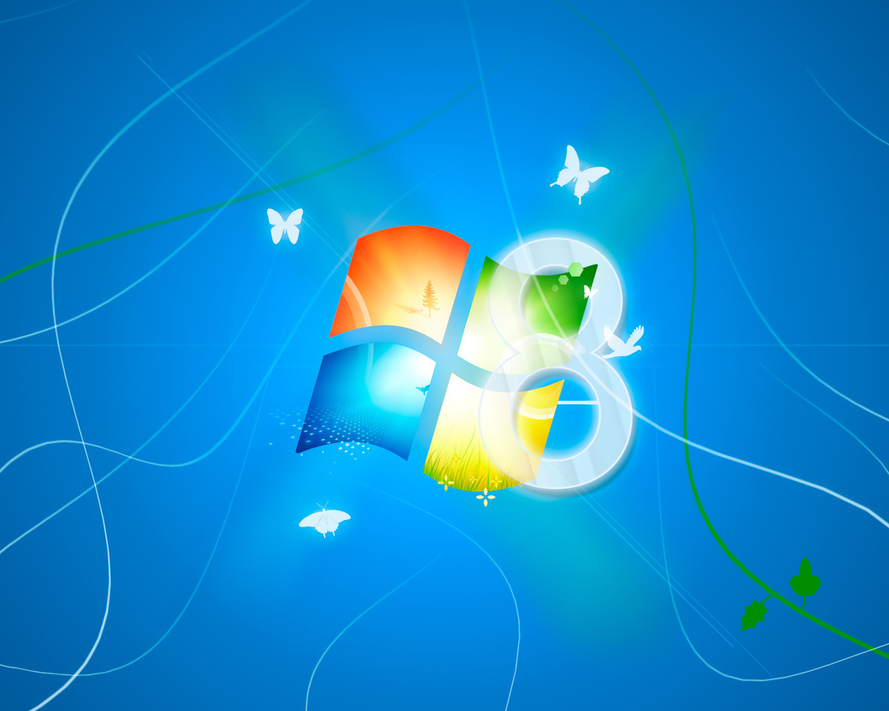 Microsoft ос логотип синий фон windows 8 обои