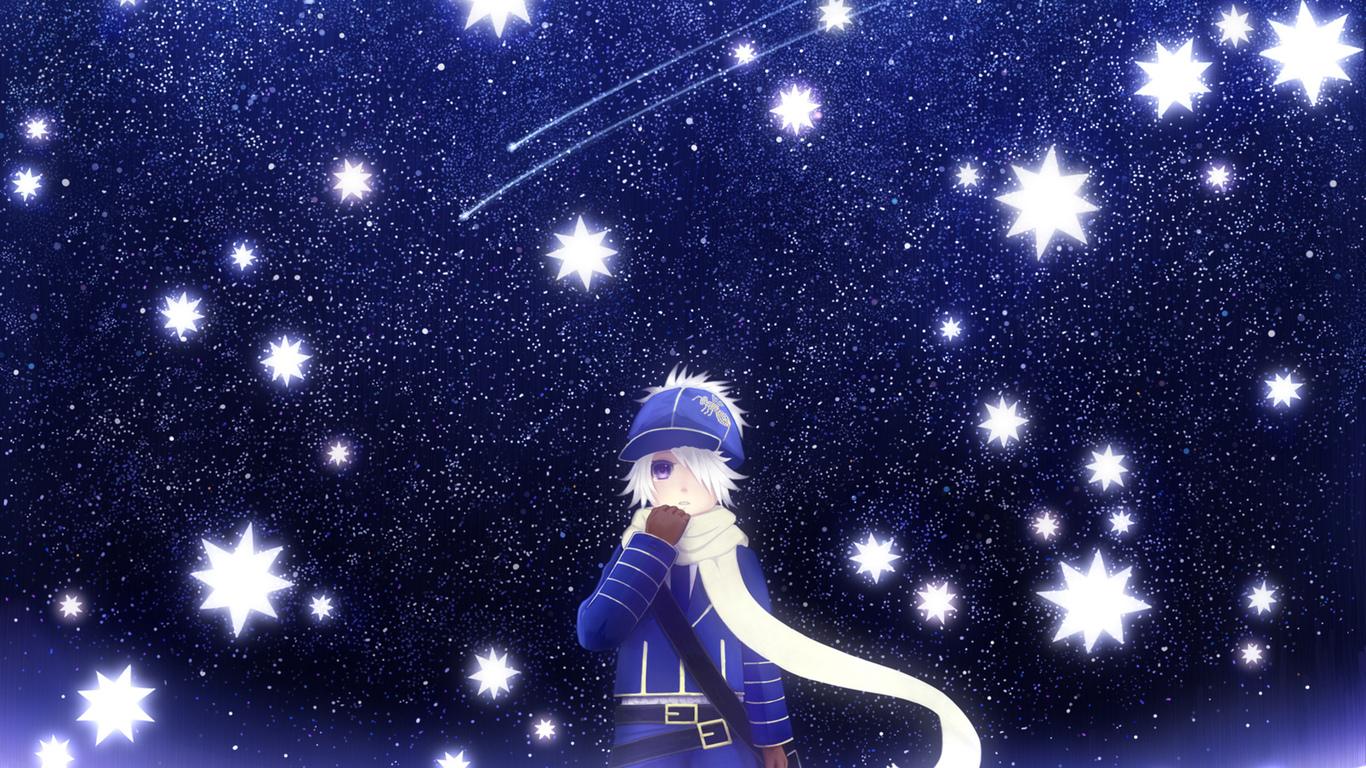 Bounin арт мальчик аниме обои для