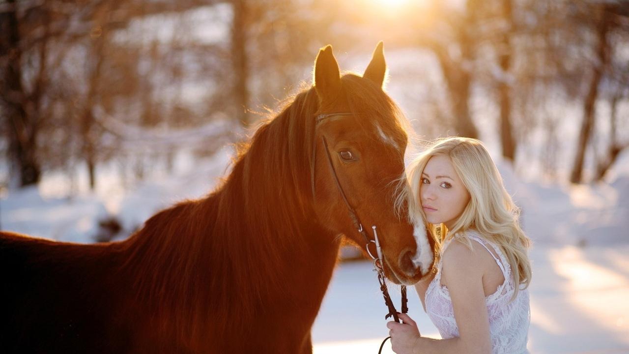 Фотографії блондинок і зима 13 фотография