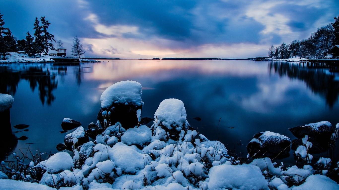 Природа озера snow снег landscapes пейзажи
