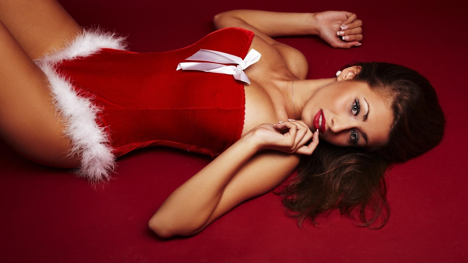 Сексуальные новогодние фотографии 19 фотография