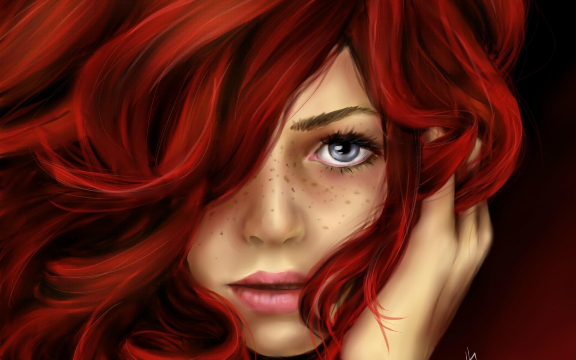 Черно белые картинки девушек с рыжими волосами 6 фотография