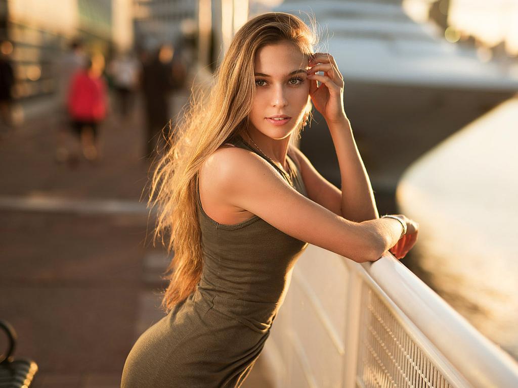 девушка, красивая, поза