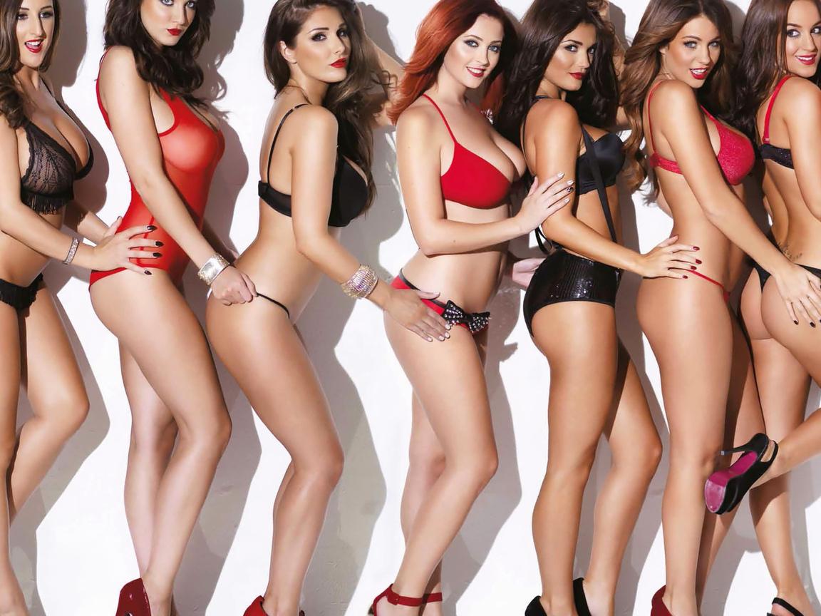 девушки, модели, в белье
