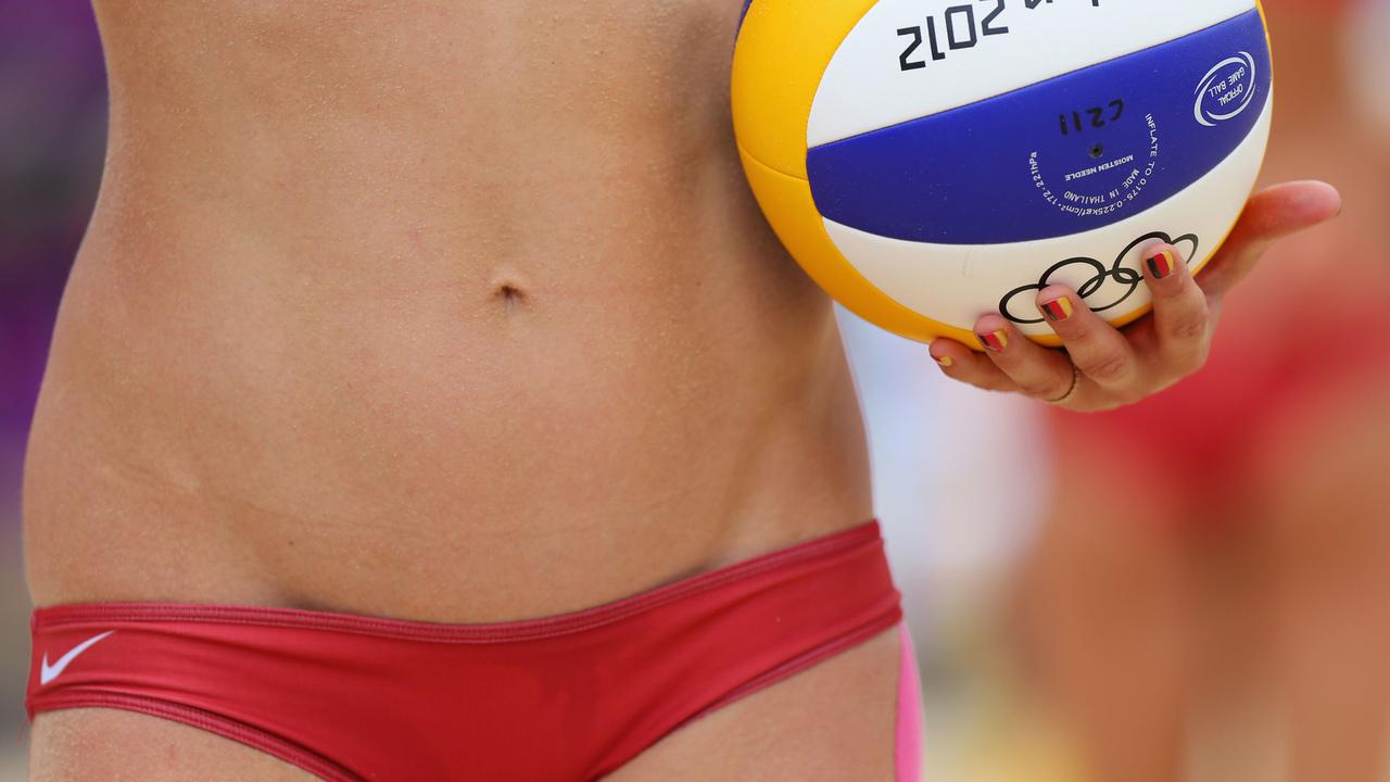 спорт, волейбол, олимпиада, лондон 2012, живот, лобок, трусики