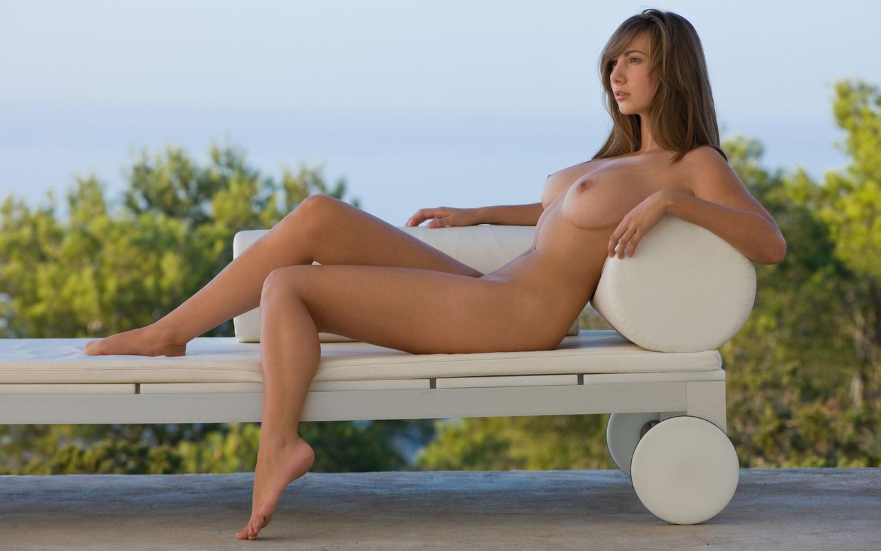 голая, красивая, поза, грудь, ножки, эротика