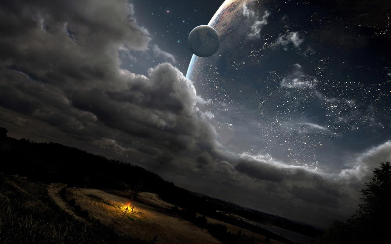 планеты, ночь