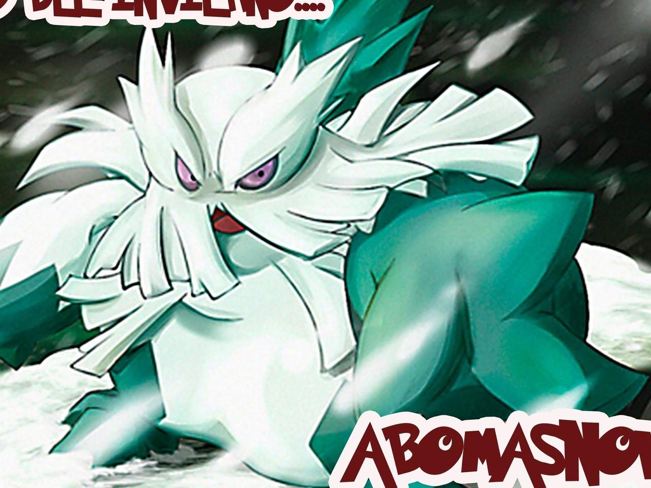pokemon, abomasnow