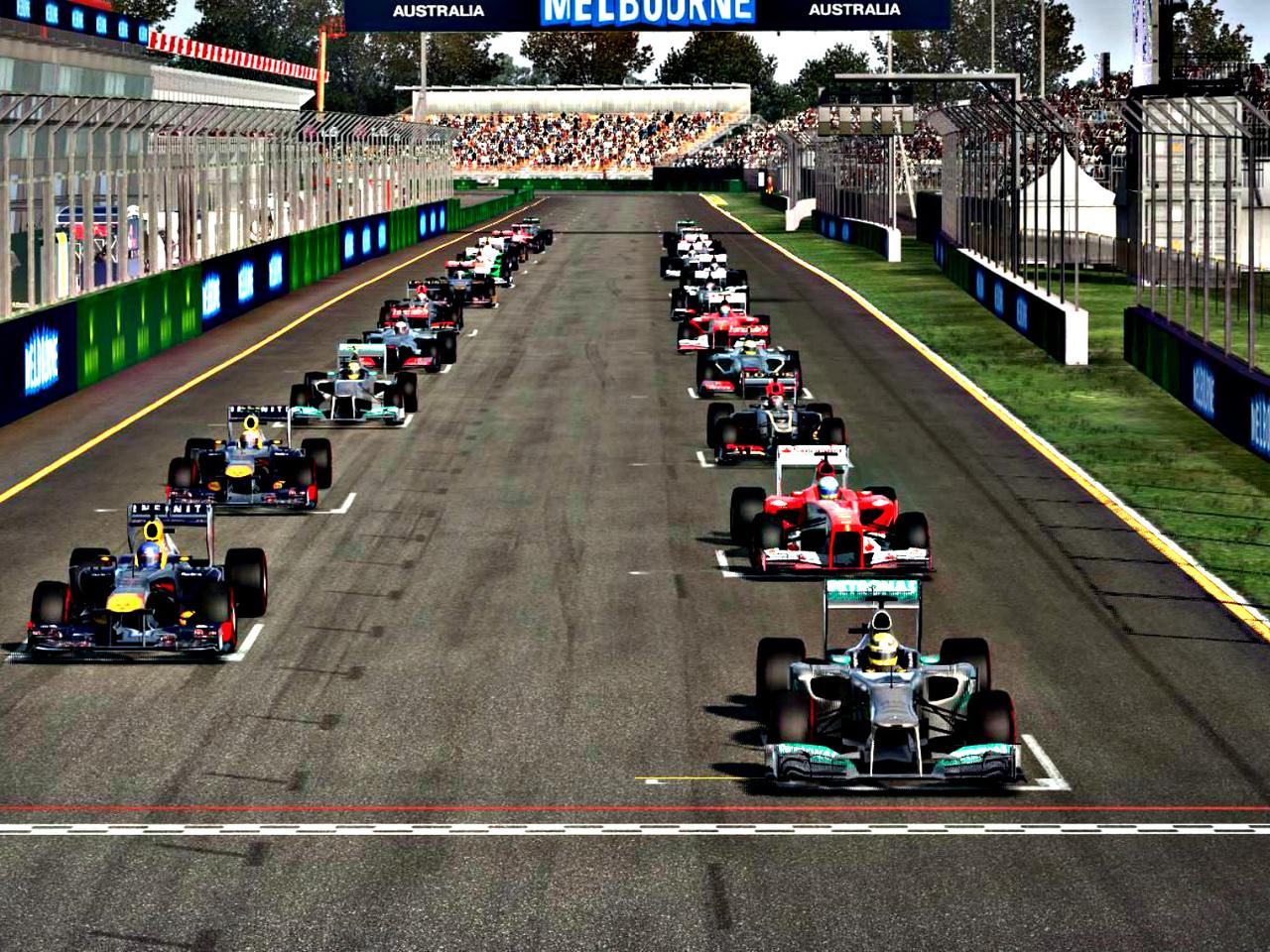 formula 1 2013, гонка, начало, старт, болиды