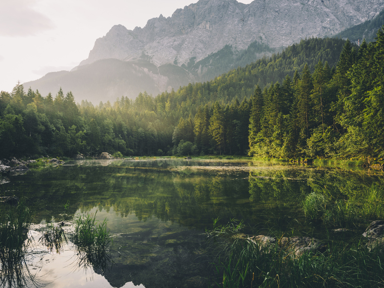 природа, бавария, горы, германия, лес, озеро, красиво