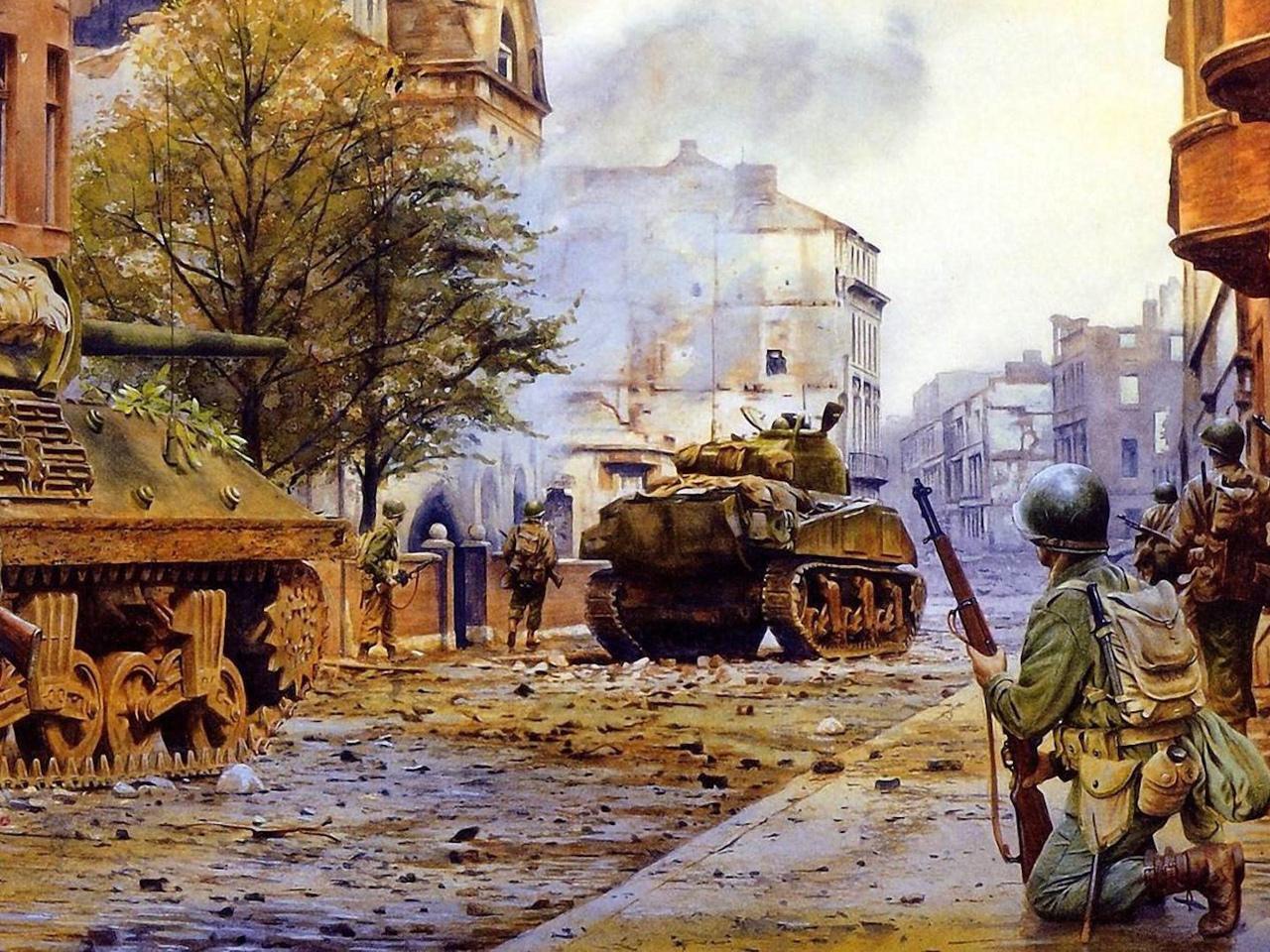 арт, искусство, город, солдаты