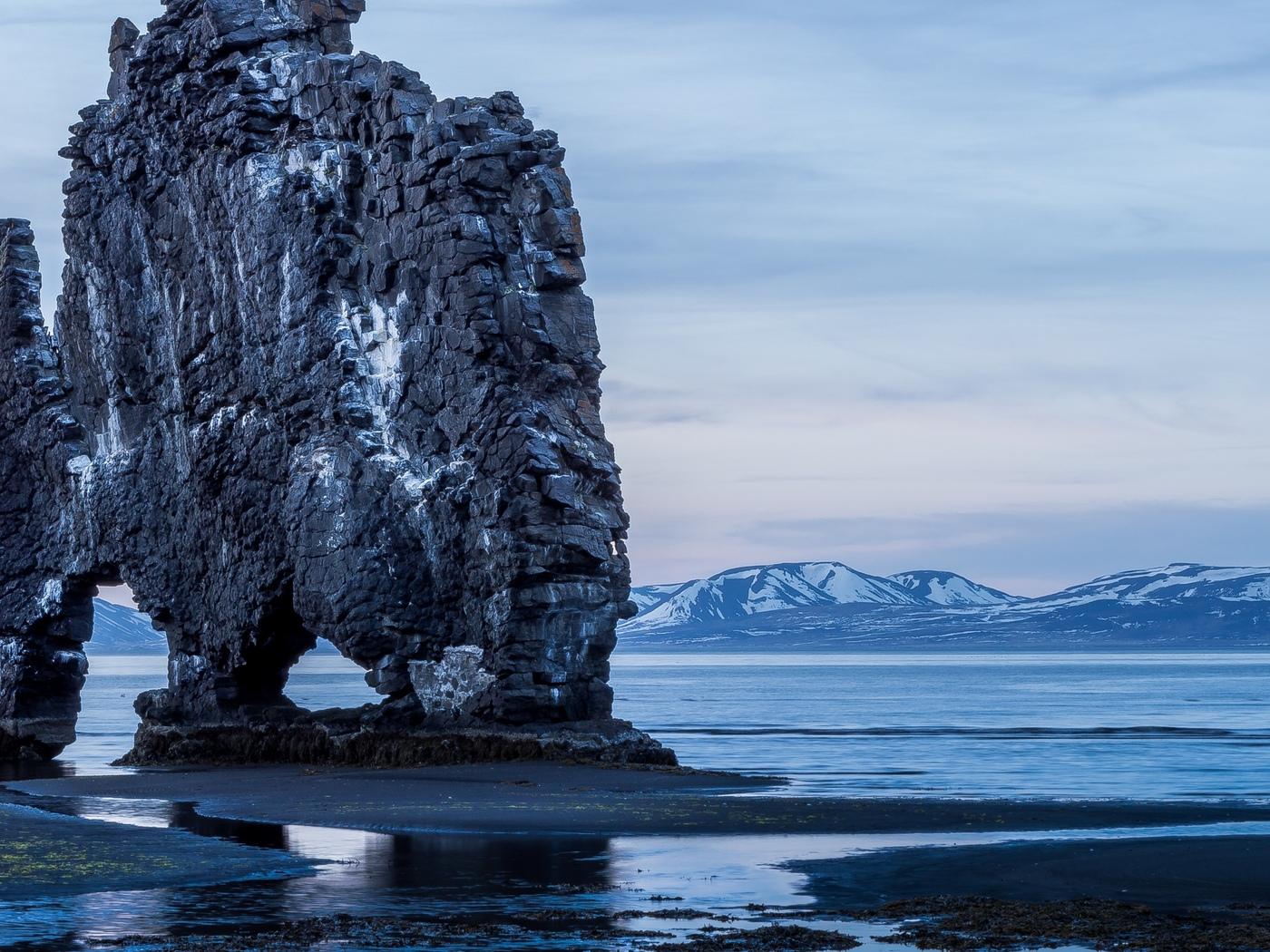скалы, побережье, берег, вода, горы