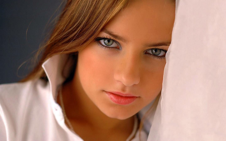 девушка, модель, взгляд, портрет