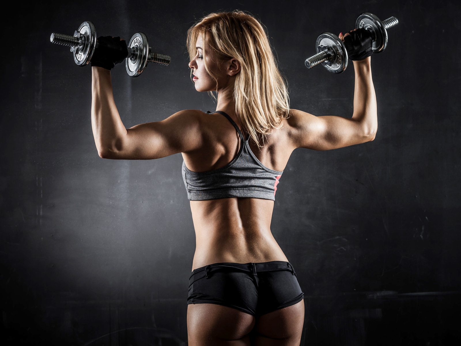 спорт, девушка, красивая, попа, фитнес, руки