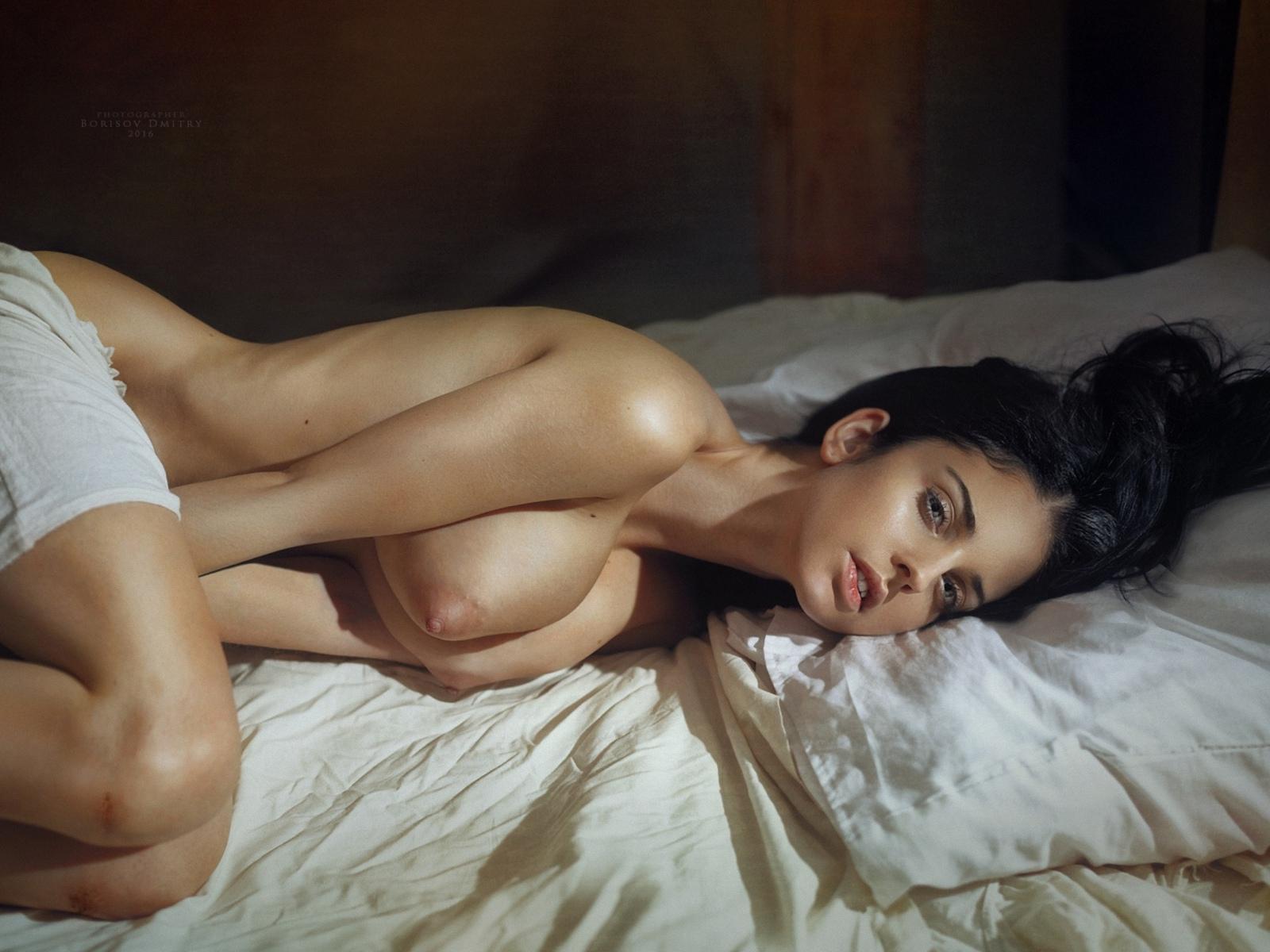 девушка, модель, позирует, обнаженная