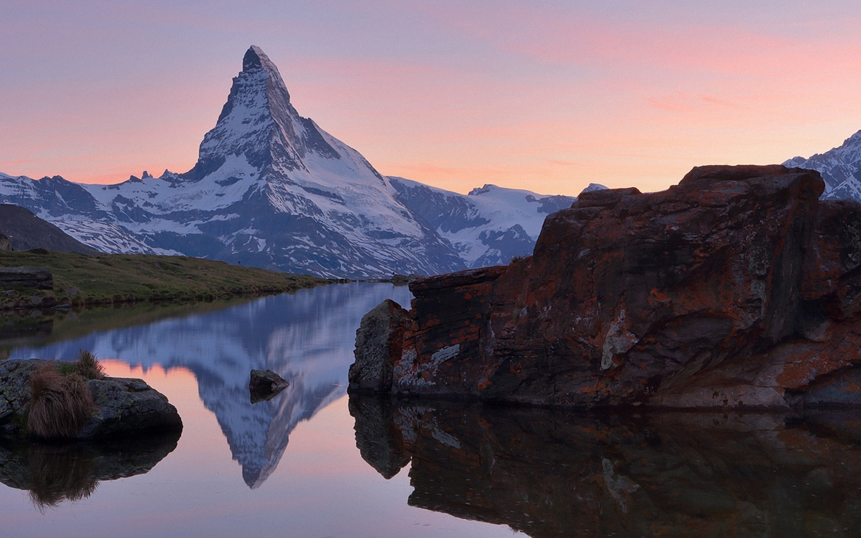 природа, горы, река, камни, проф работа, вечер