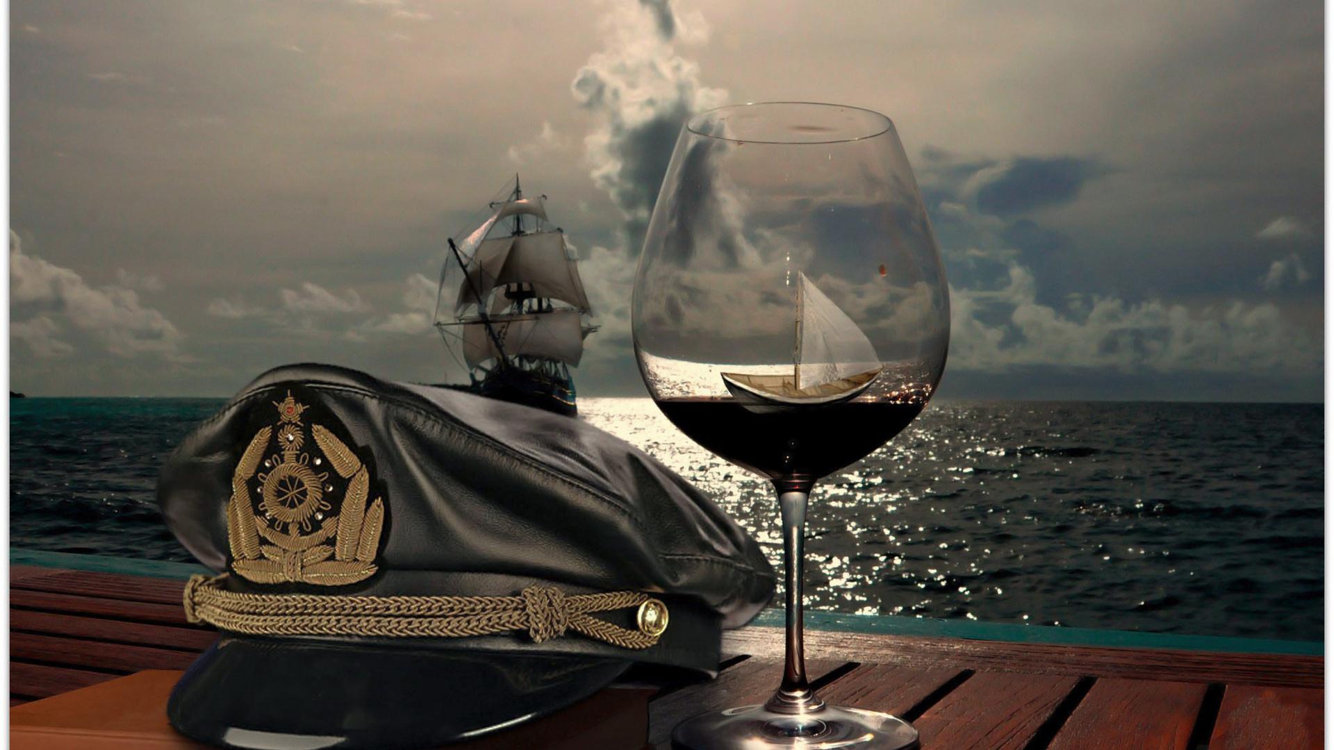 арт, море, корабль