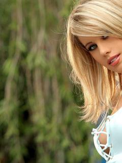 блондинка, лицо, красивая, грудь, улыбка