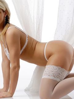 блонди, в секси, белье