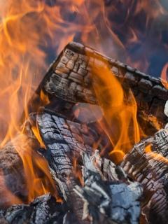 огонь, дрова