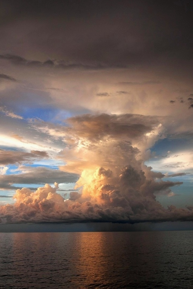 океан, облака