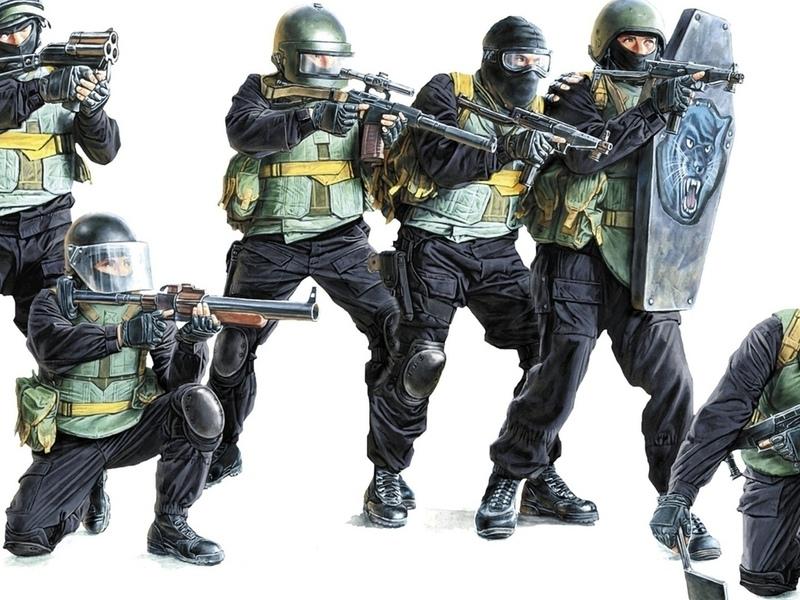 мужчины, спецназ, российский, солдат