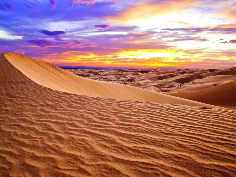 пейзаж, пустыня, пески