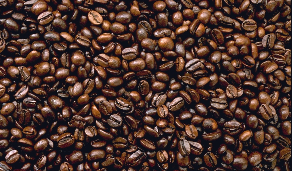 кофейная, зерна, текстура