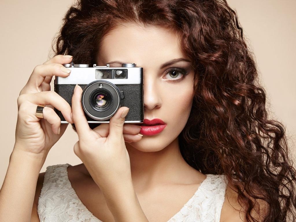 лицо, фотоаппарат, поза, макияж, красивая