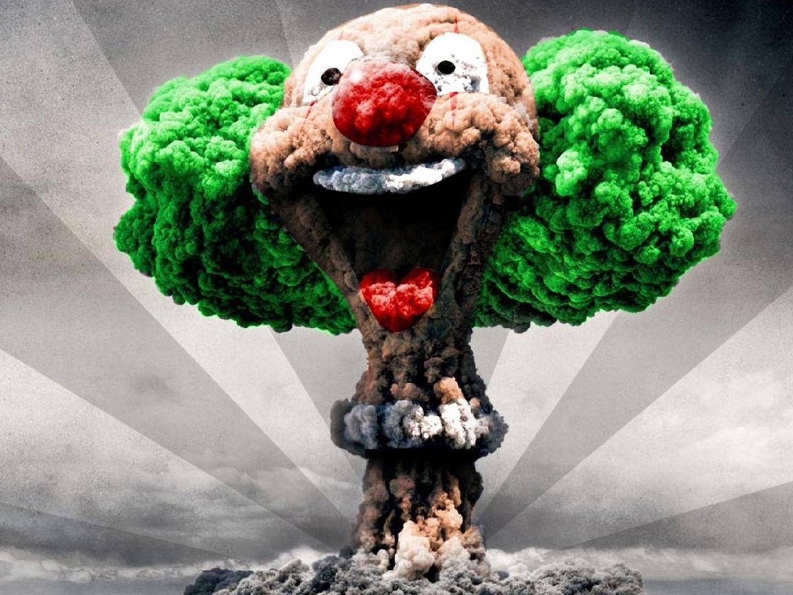 клоун, взрыв, ядерный