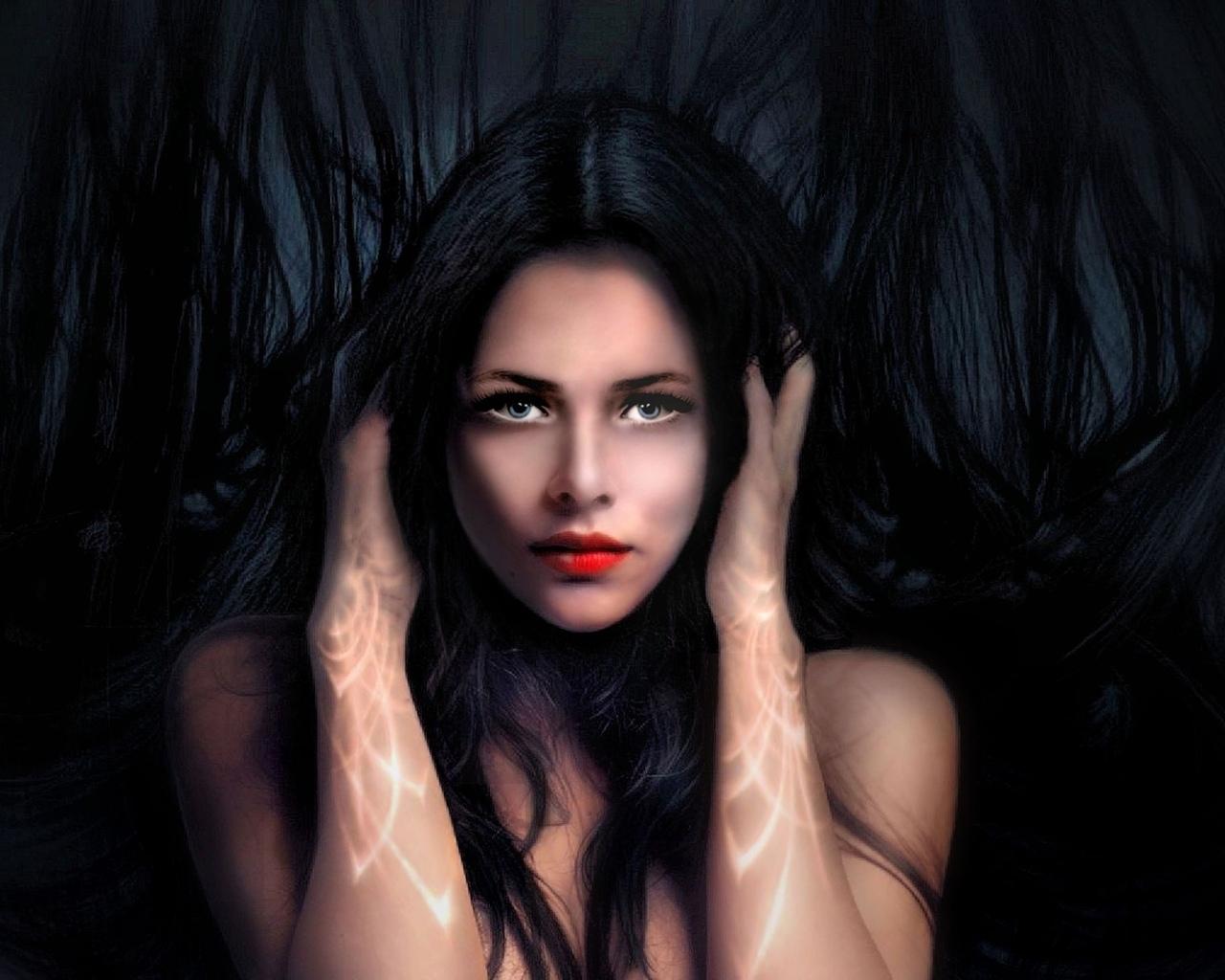 девушка, взгляд, портрет, фэнтези