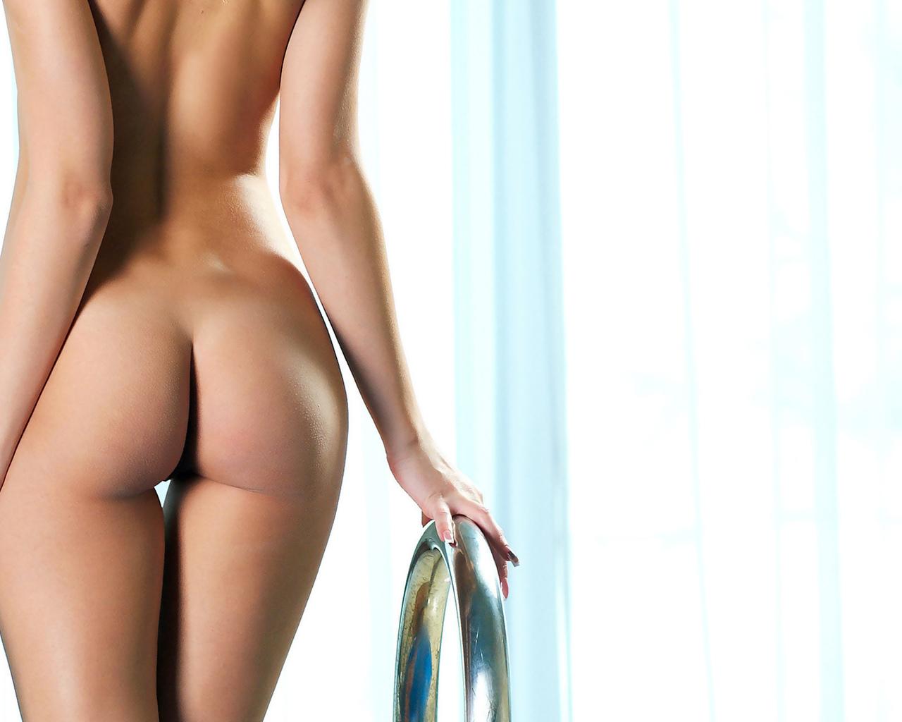 девушка, голая, красивая, ноги, попа