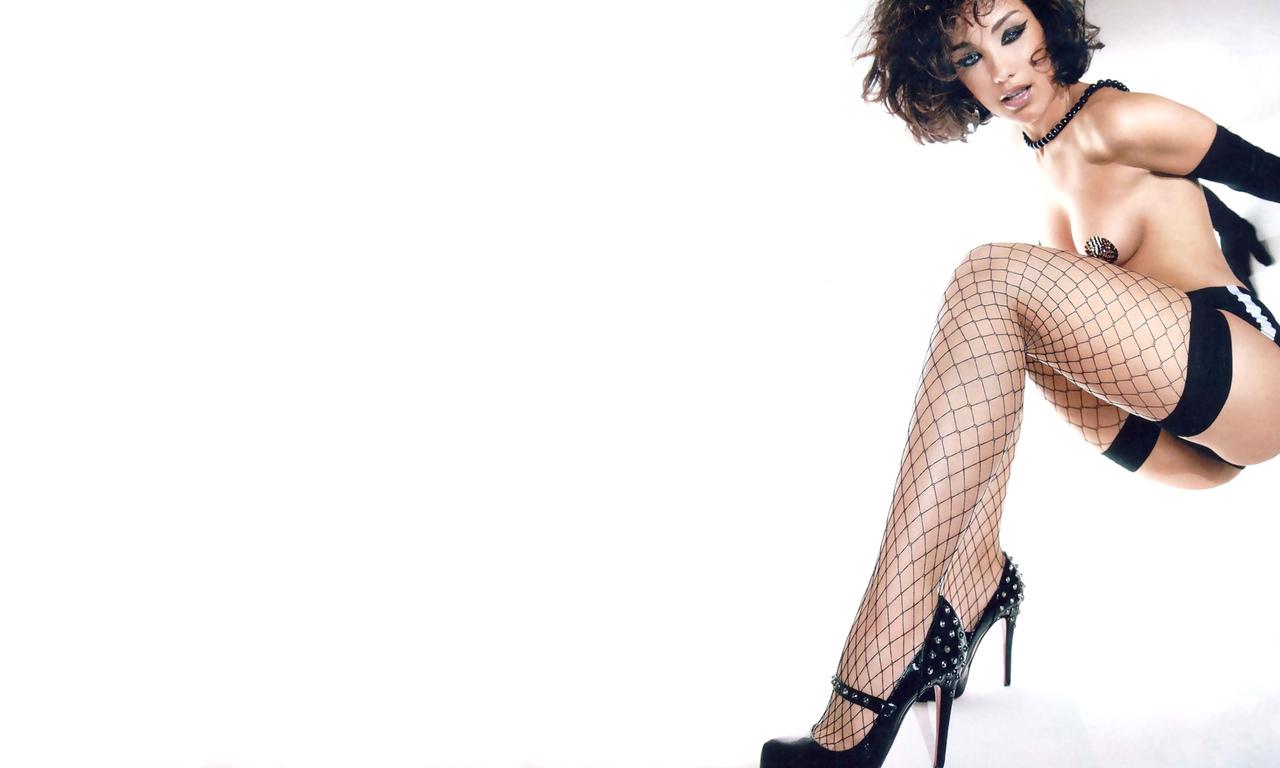 виктория, дайнеко, позирует, попа, белье, знаменитость, красивая, макияж