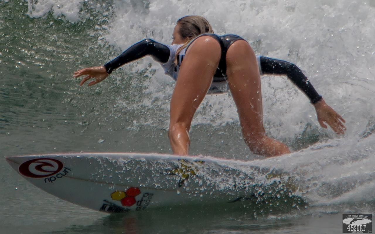 серфинг, девушка, волна море, брызги