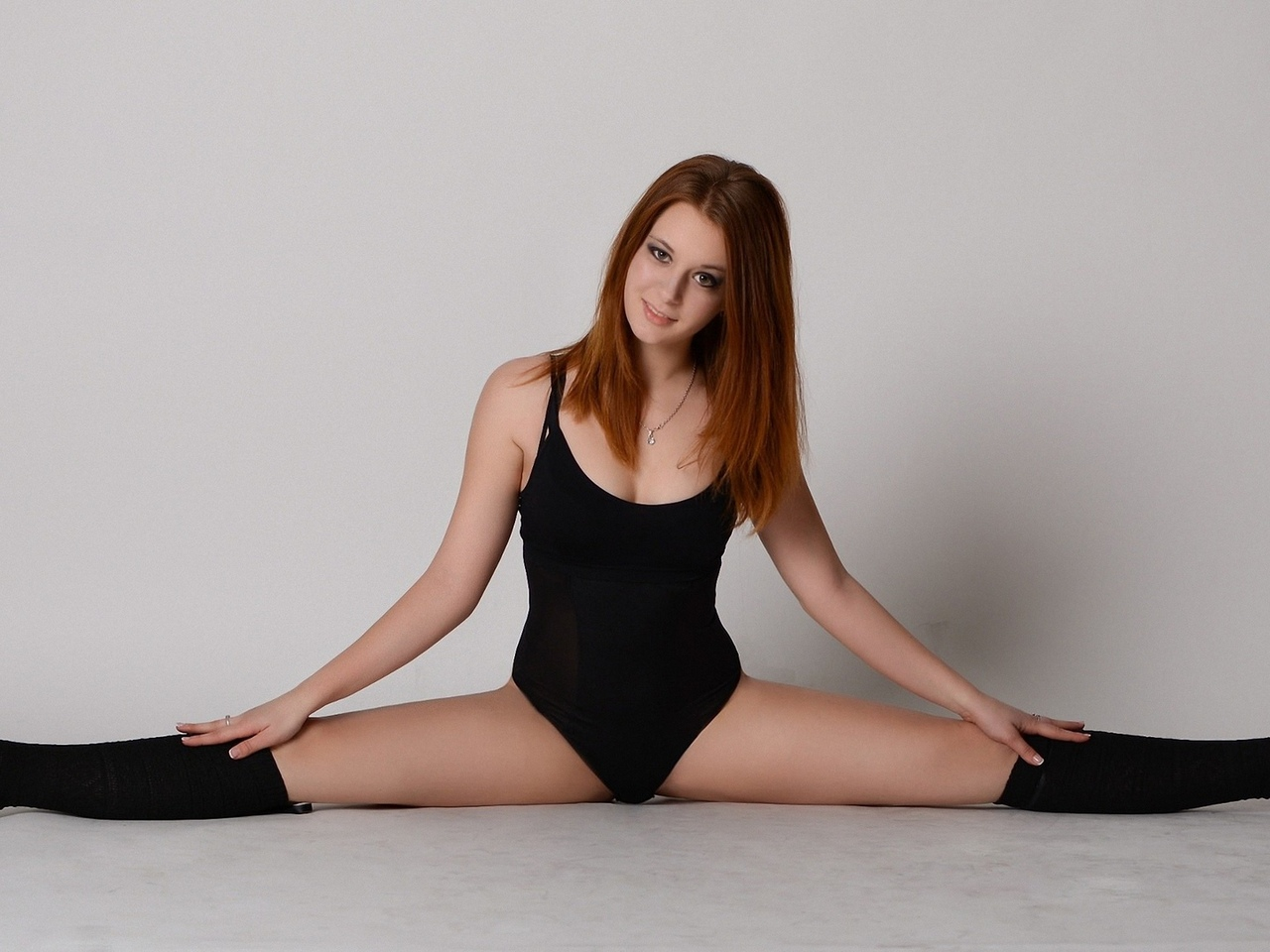 девушка, модель, позирует, балет
