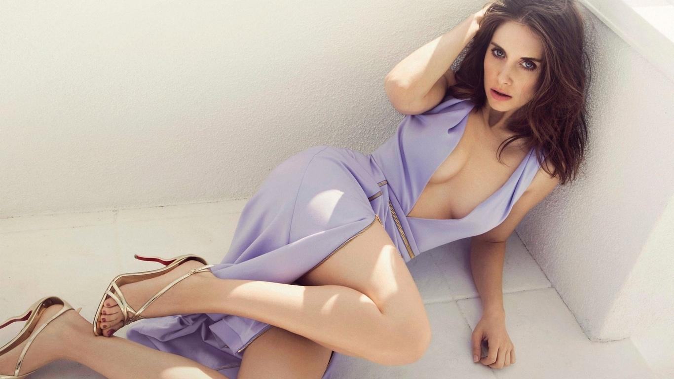 девушка, модель, позирует, в платье, декольте