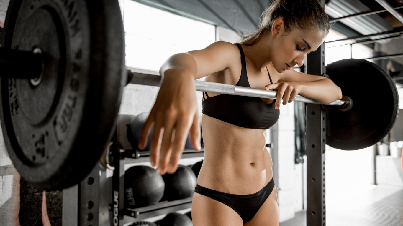 девушка, спорт, атлетика, фитнес